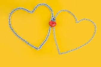 Sfondo evento collegato carta romantico