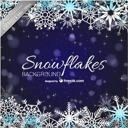 Sfondo fiocchi di neve per Natale