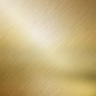 Sfondo metallico con un effetto metallo spazzolato oro