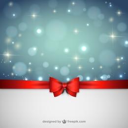 Sfondo Natale con nastro rosso