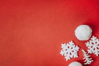 Sfondo Natale con palla di neve
