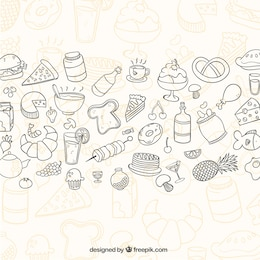 Sketchy food background
