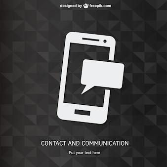 Smartphone con sfondo poligonale