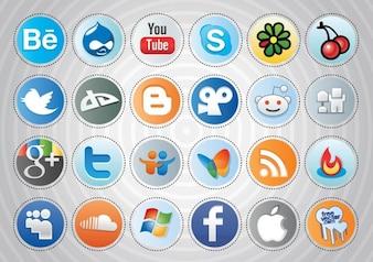 social media pulsanti