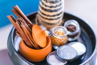Spa primo piano la terapia di massaggio di cura
