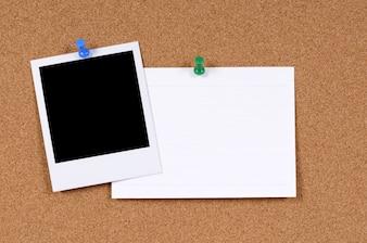 Stampa in bianco della foto con la scheda dell'ufficio