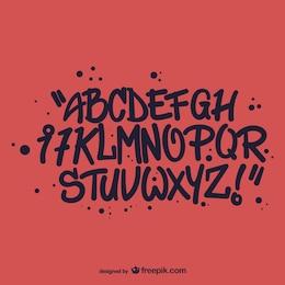 Stile graffiti alfabeto lettere