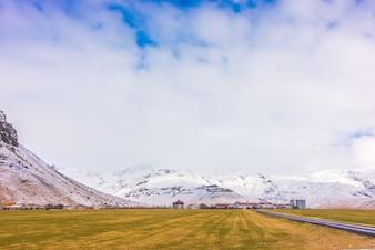 Strada in Islanda, stagione invernale.