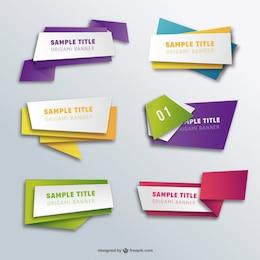 Striscioni Origami Pack
