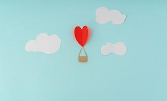 Mongolfiere foto e vettori gratis - Colore del giorno di san valentino ...