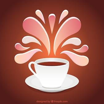 Tazza di caffè con decorazione ornamentale