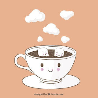 Tazza di caffè divertente