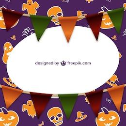 Telaio Halloween con ghirlande