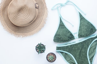 Top femminile accessori da viaggio spiaggia casual