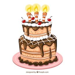 Torta di compleanno illustrazione