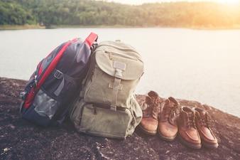 Trail uomo acqua spazio di trekking