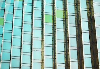Un colpo di dettaglio dello sfondo della finestra di costruzione dell'ufficio