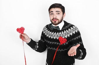 Uomo persona giorno di San Valentino in piedi