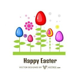 Uova decorate Felice Easter Card
