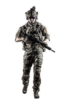 US Army Ranger con arma