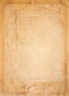 Vecchio documento con cornice vintage vintage - vuoto per il tuo design