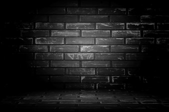 Vecchio muro di sfondo nero. Struttura con confine ba vignetta nero