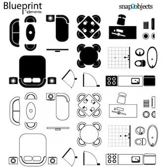 Vector Blueprint Elementi