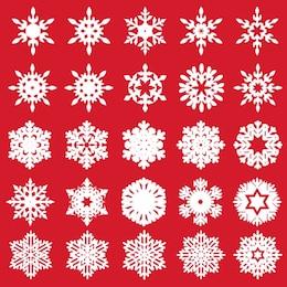 Vector set di diversi fiocchi di neve
