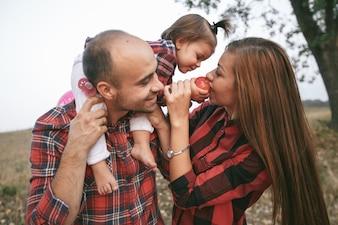 Vestito carino rosso tre amore