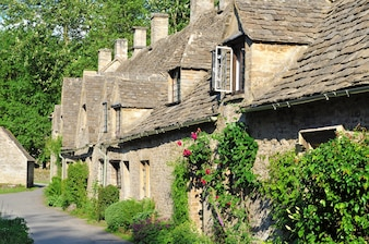 Villaggio inglese in Cotswolds