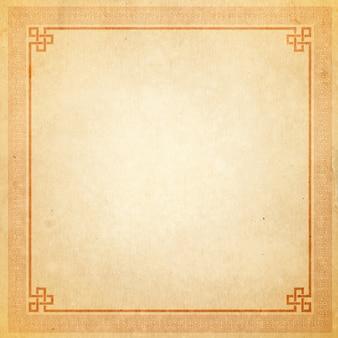Vintage frame cinese - vecchia carta texture