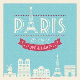 Vintage Paris vettoriale
