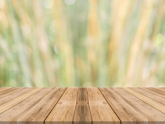 Vista di tavole di legno