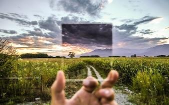 Vista filtro Cokin del paesaggio