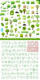 {Com o meio ambiente verde} material de vetor