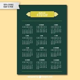2015 calendário do vetor da arte
