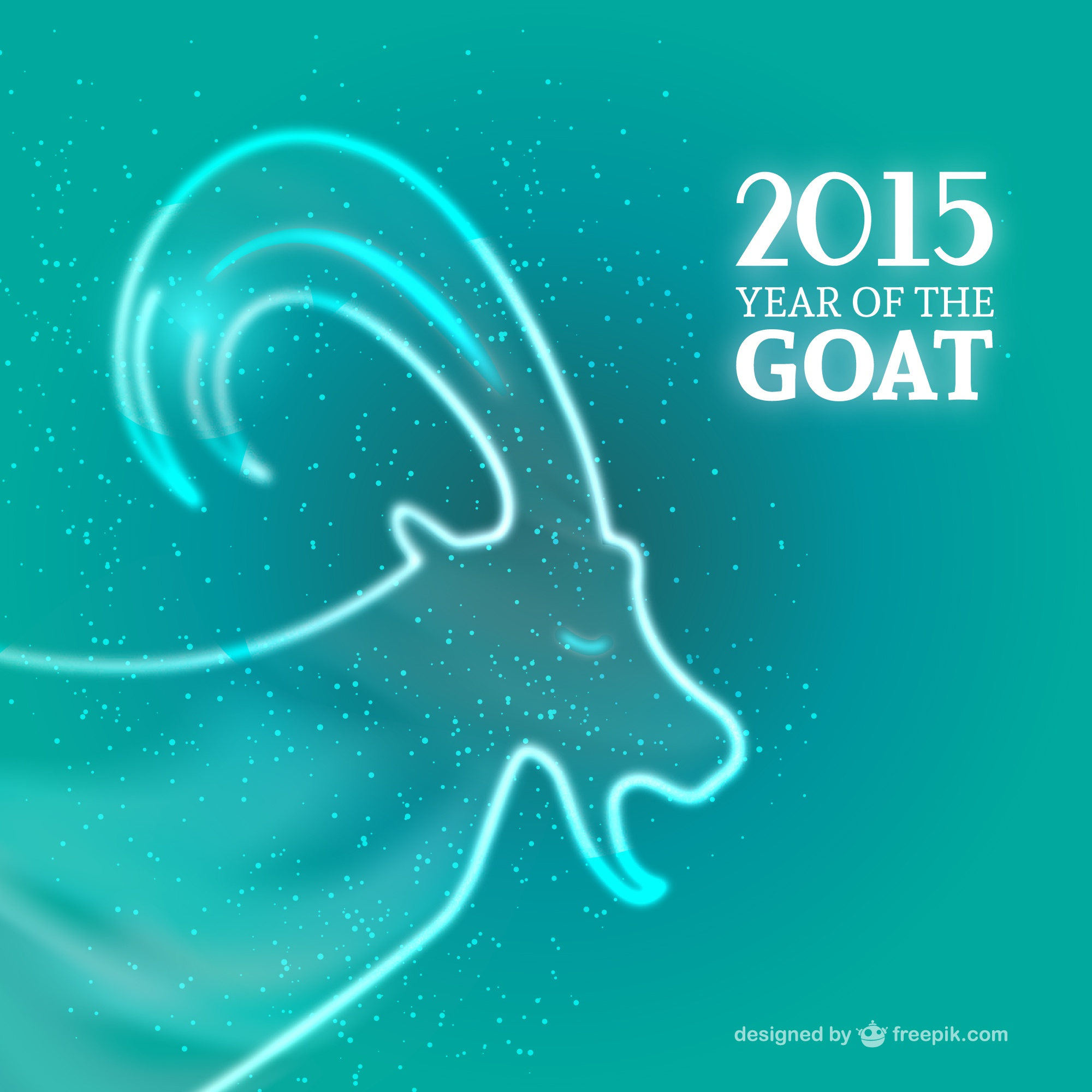 2015 Ano do vector Goat