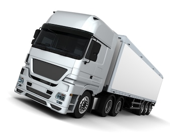 3D rendem de um Cargo Delivery Vehicle