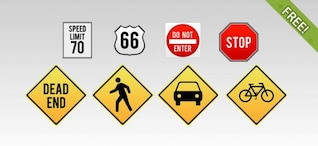 8 Tráfego Icons Sign