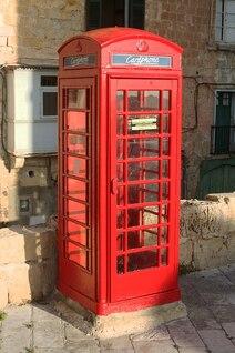 Valetta malta cabine de telefone