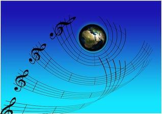 Som treble clef concert música músico
