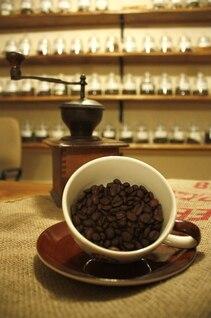 grãos de comida, café xícara de chá fresco bebida