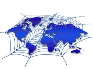 mapa do mundo rede de teia de aranha globalalisierung