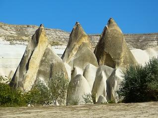 erosão das formações de rocha calcária paisagem