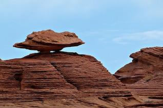 erosão cenário do deserto natureza rocha equilibrada