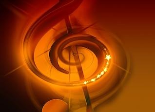 Notenblatt agudos sons de música clef