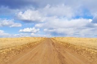 Céu estrada campo de grama natureza seca