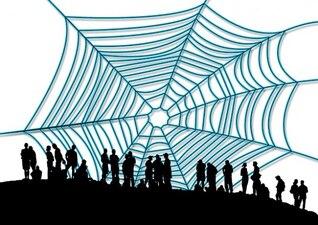 pessoa rede homem link de internet teia de aranha
