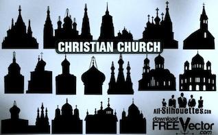 vector cristão igreja todos os silhuetas