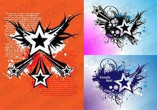 estrela de cinco pontas tema vetor elemento material -1
